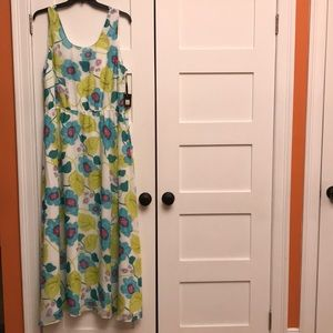Pretty BB Dakota Jack Watercolor maxi dress NWT